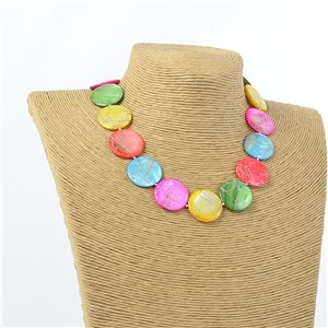 Collier Bijoux de Nacre Fashion Design L47-52cm 71289