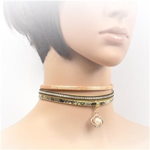 Collier ras de cou Chic et Strass New Collection Choker 2017 L32-40cm 71725