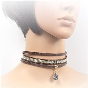 Collier ras de cou Chic et Strass New Collection Choker 2017 L32-40cm 71715