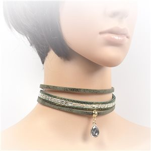 Collier ras de cou Chic et Strass New Collection Choker 2017 L32-40cm 71720