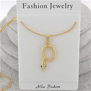 Necklace pendent IRIS rhinestone strass chain snake l40-45cm new collection 71851