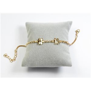 Bracelet Strass Chic L19-23cm Collection métal doré 65894