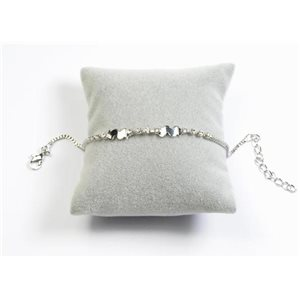 Bracelet Strass Chic L19-23cm Collection métal doré 65901