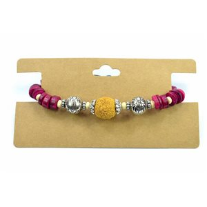 Bracelet Natural Color réglable nœud coulissant Collection Pierre de Lave Printemps 2017 72163