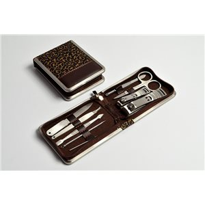 Manicure Set PRO 11 * 8cm and its 9 Stainless Steel Tools 72516