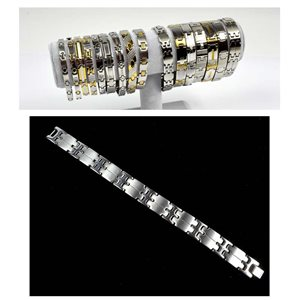 Stainless Steel Bracelet L21.5cm Steel Color New Collection 72776