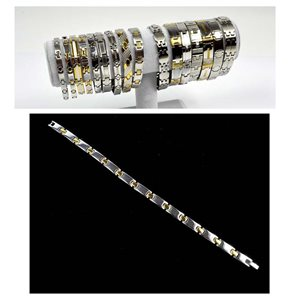Stainless Steel Bracelet L20cm Steel and Gold Color New Collection 72761