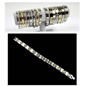 Stainless Steel Bracelet L20cm Steel and Gold Color New Collection 72769