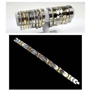 Stainless Steel Bracelet L20.5cm Steel and Gold Color New Collection 72774
