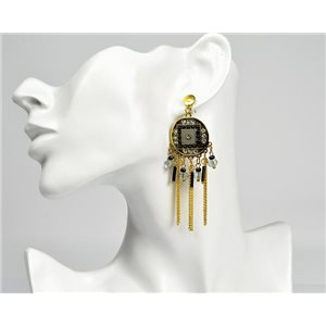 1p Boucles Oreilles ATHENA New Collection Ethnique 72819