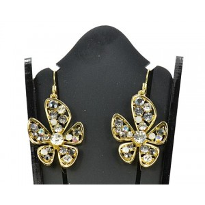 1p Boucles Oreilles Strass Collection Chic 62054