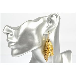 1p Boucles Oreilles métal maille souple Mode Disco New Collection 72838