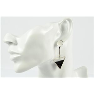 1p Earrings Nail Earrings Silver Color Collection Graphika 73201