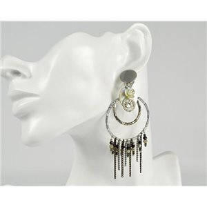 1p Boucles Oreilles à Clip ATHENA New Collection Eté 73389