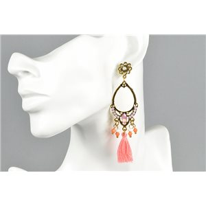 1p Earrings Earrings with Clou set with Strass Collection ATHENA Les Estivales 73420