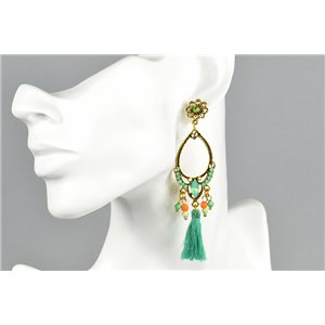 1p Earrings Earrings with Clou set with Strass Collection ATHENA Les Estivales 73421