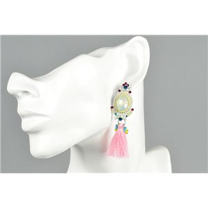 1p Earrings Earrings with Clou set with Strass Collection ATHENA Les Estivales 73422