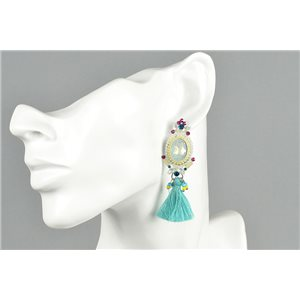 1p Earrings Earrings with Clou set with Strass Collection ATHENA Les Estivales 73423