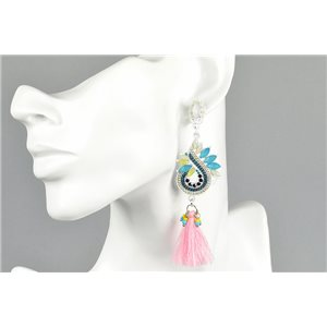 1p Earrings Earrings with Clou set with Strass Collection ATHENA Les Estivales 73424