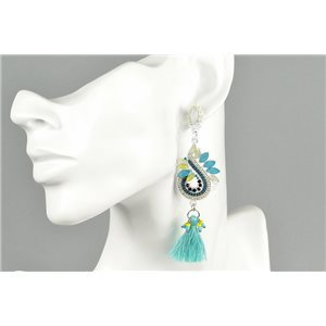 1p Earrings Earrings with Clou set with Strass Collection ATHENA Les Estivales 73425