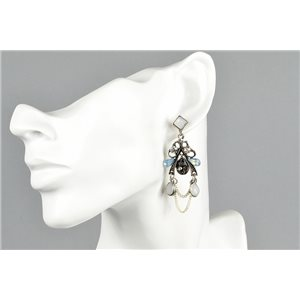 1p Earrings Earrings with Clou set with Strass Collection ATHENA Les Estivales 73426