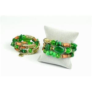 Bracelet spiral Collection CYBELE Bead Charms on memory wire 73494
