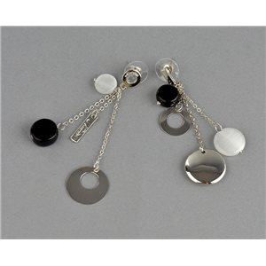 1p Boucles Oreilles Pendantes à clou Collection Graphika 2018 73823
