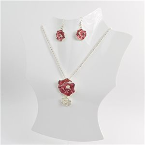Necklace VISAGE enamels and rhinestone New Collection 2018 Winter Color 75032