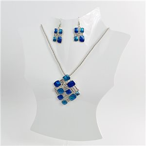 Necklace VISAGE enamels and rhinestone New Collection 2018 Winter Color 75048