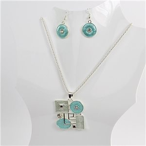 Necklace VISAGE enamels and rhinestone New Collection 2018 Winter Color 75068