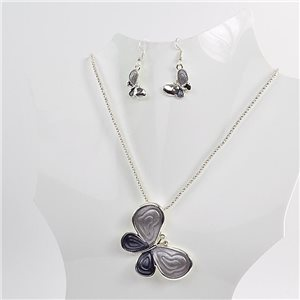 Necklace VISAGE enamels and rhinestone New Collection 2018 Winter Color 75075
