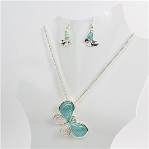Necklace VISAGE enamels and rhinestone New Collection 2018 Winter Color 75078
