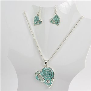 Necklace VISAGE enamels and rhinestone New Collection 2018 Winter Color 75083