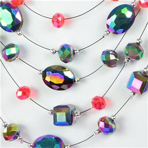 Adure Necklace 5 rows Imitation Gemstone L44-48cm Collection Suspension 2018 75130