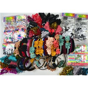 ready to unpack +150 special hair items market or destocking 75244