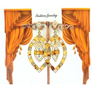 1p earrings studded with Rhinestones Collection ATHENA 8cm 75224