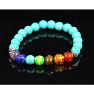 Bracelet Porte Bonheur 7 Chakras en Pierre Naturelle New Collection 75783