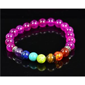 Bracelet Porte Bonheur 7 Chakras en Pierre Naturelle New Collection 75787