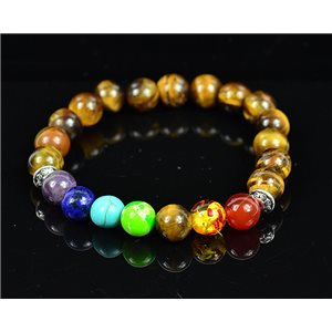 Charm Bracelet 7 Chakras Natural Stone New Collection 75789