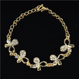 Bracelet métal Gold Color serti de Strass L19 cm The Best Collection Chic 76028