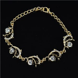 Bracelet métal Gold Color serti de Strass L19 cm The Best Collection Chic 76034
