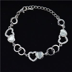 Bracelet métal Silver Color serti de Strass L19 cm The Best Collection Chic 76043