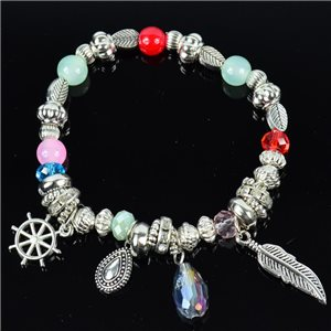 Bracelet CYBELE Bijoux Bead Charms sur fil élastic New Collection 76135