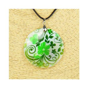 Pendant necklace 5 cm Natural Mother of Pearl Fashion Design L48cm New Collection 76219