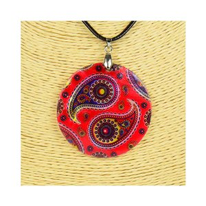 Pendant necklace 5 cm Natural Mother of Pearl Fashion Design L48cm New Collection 76225
