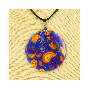 Pendant necklace 5 cm Natural Mother of Pearl Fashion Design L48cm New Collection 76231