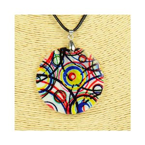 Collier Pendentif 5cm en Nacre naturelle Fashion Design L48cm New Collection 76249