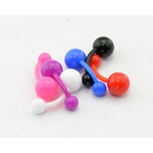 6 Banana Piercing Flexible D1.6mm L10mm Ball UV 60898