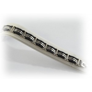 Bracelet en Acier inoxydable L20cm Steel Color New Collection 66285