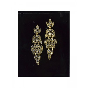 1p Boucles Oreilles Collection VINTAGE serti de Strass 66382